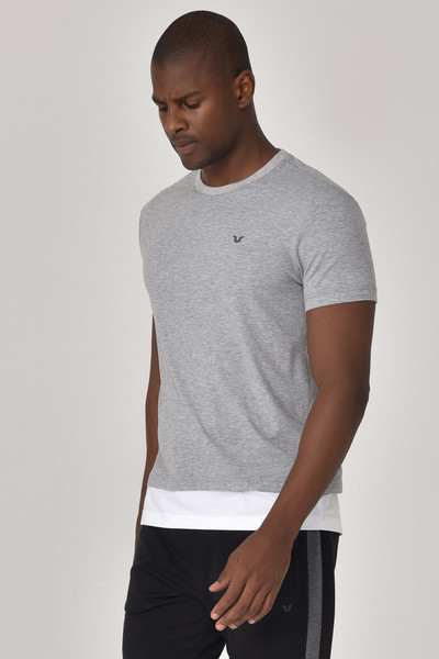 BİLCEE - Bilcee Gri Erkek T-Shirt GS-8887 (1)