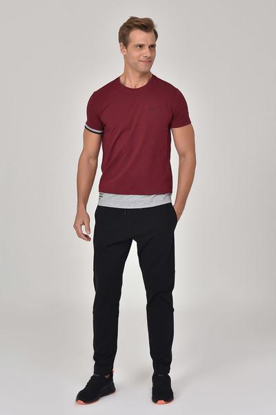 BİLCEE - Bilcee Bordo Erkek T-Shirt GS-8887 (1)