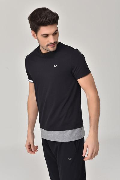 BİLCEE - Bilcee Siyah Erkek T-Shirt GS-8887