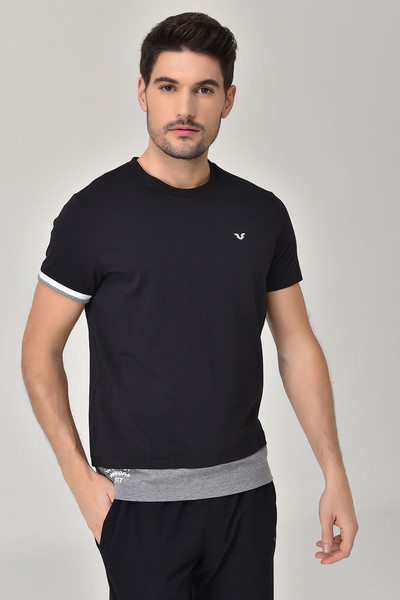 BİLCEE - Bilcee Siyah Erkek T-Shirt GS-8887 (1)