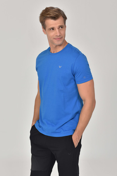 BİLCEE - Bilcee Mavi Erkek T-Shirt GS-8897 (1)