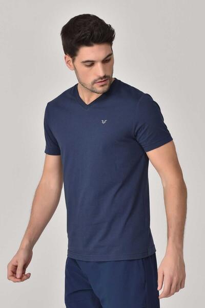 BİLCEE - Bilcee Lacivert Erkek T-shirt GS-8898