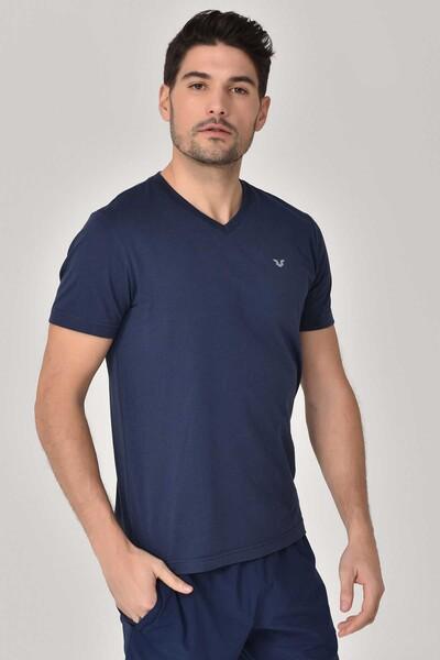 BİLCEE - Bilcee Lacivert Erkek T-shirt GS-8898 (1)