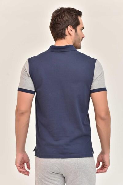 BİLCEE - Bilcee Lacivert Erkek Büyük Beden T-Shirt GS-8981 (1)