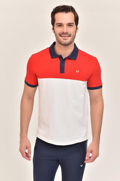 BİLCEE - Bilcee Beyaz Erkek Büyük Beden T-Shirt GS-8981