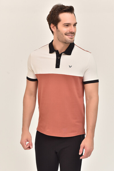 BİLCEE - Bilcee Kahverengi Erkek Büyük Beden T-Shirt GS-8981