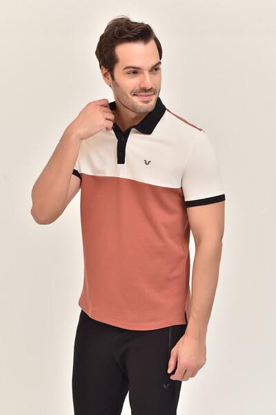 BİLCEE - Bilcee Kahverengi Erkek Büyük Beden T-Shirt GS-8981 (1)