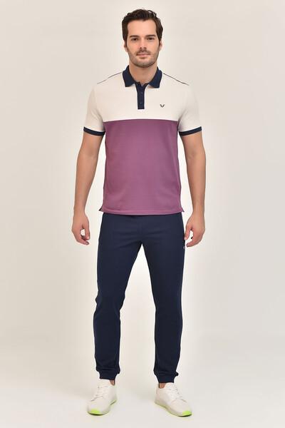 BİLCEE - Bilcee Mor Erkek Büyük Beden T-Shirt GS-8981 (1)