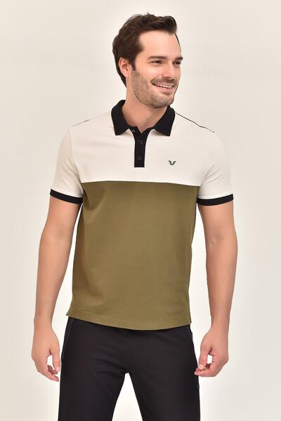 BİLCEE - Bilcee Yeşil Erkek Büyük Beden T-Shirt GS-8981