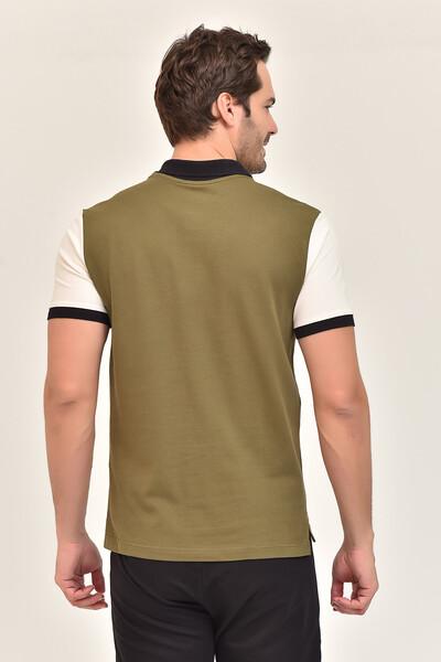BİLCEE - Bilcee Yeşil Erkek Büyük Beden T-Shirt GS-8981 (1)