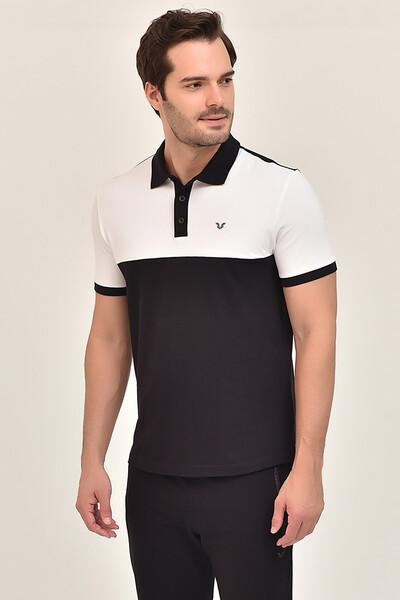 BİLCEE - Bilcee Siyah Erkek Büyük Beden T-Shirt GS-8981