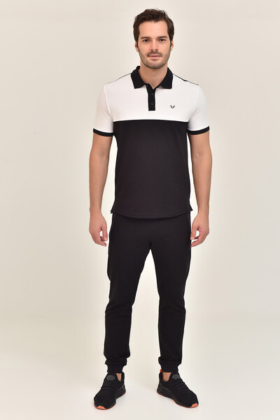 BİLCEE - Bilcee Siyah Erkek Büyük Beden T-Shirt GS-8981 (1)