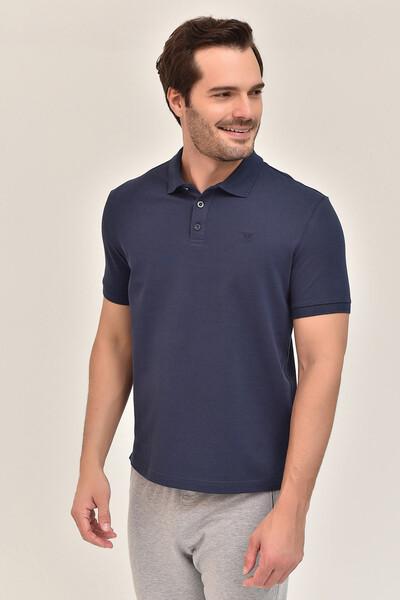 - Bilcee Lacivert Erkek Büyük Beden Polo Yaka T-Shirt GS-8983