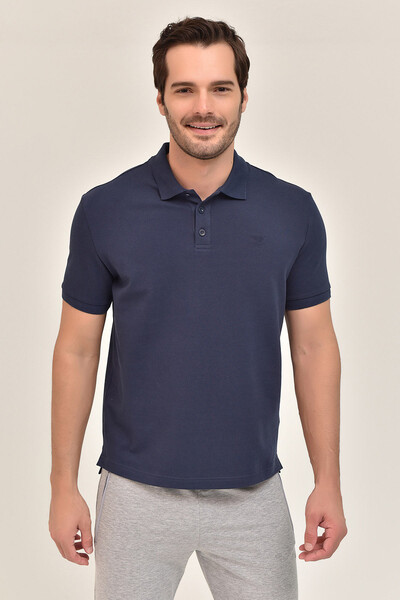 - Bilcee Lacivert Erkek Büyük Beden Polo Yaka T-Shirt GS-8983 (1)
