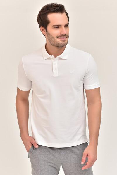 - Bilcee Beyaz Erkek Büyük Beden Polo Yaka T-Shirt GS-8983