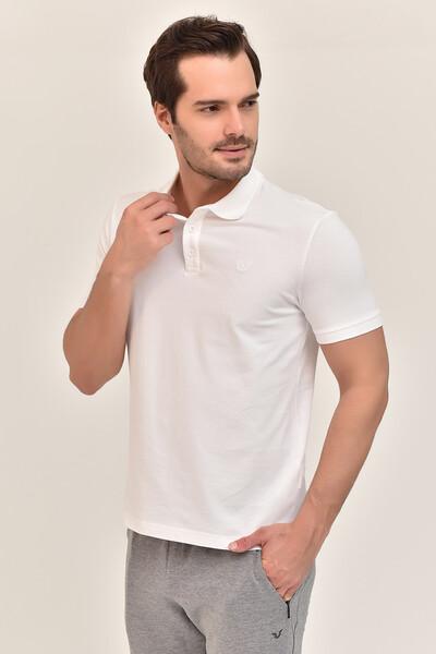 - Bilcee Beyaz Erkek Büyük Beden Polo Yaka T-Shirt GS-8983 (1)