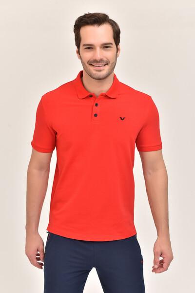 - Bilcee Kırmızı Erkek Büyük Beden Polo Yaka T-Shirt GS-8983
