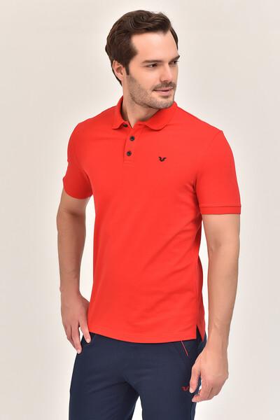 - Bilcee Kırmızı Erkek Büyük Beden Polo Yaka T-Shirt GS-8983 (1)