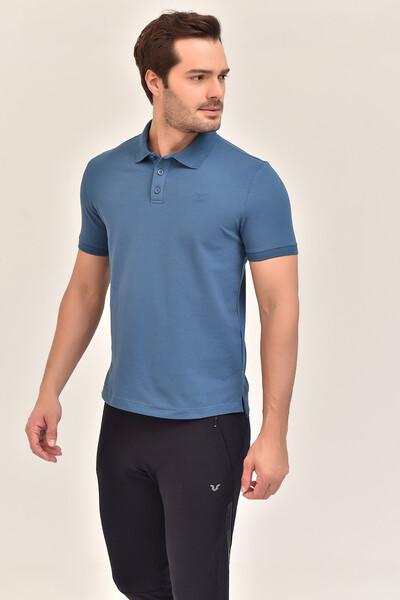 - Bilcee Mavi Erkek Büyük Beden Polo Yaka T-Shirt GS-8983