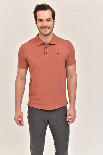 - Bilcee Kahverengi Erkek Büyük Beden Polo Yaka T-Shirt GS-8983