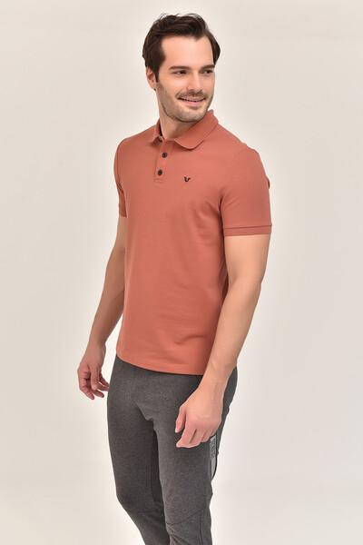 - Bilcee Kahverengi Erkek Büyük Beden Polo Yaka T-Shirt GS-8983 (1)