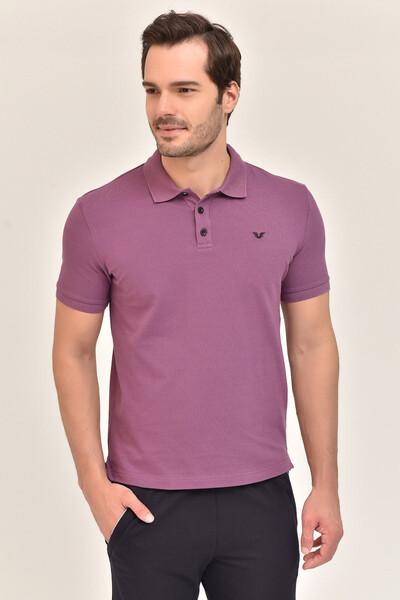 - Bilcee Mor Erkek Büyük Beden Polo Yaka T-Shirt GS-8983