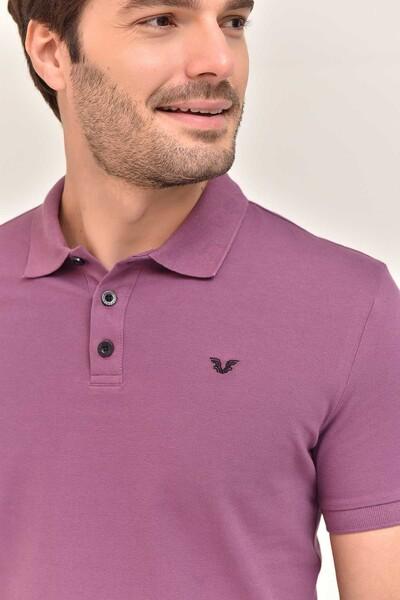 - Bilcee Mor Erkek Büyük Beden Polo Yaka T-Shirt GS-8983 (1)