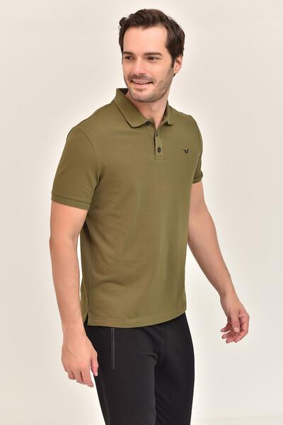 BİLCEE - Bilcee Gri Erkek Büyük Beden Polo Yaka T-Shirt GS-8983 (1)