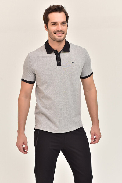 BİLCEE - Bilcee Erkek Büyük Beden Polo Yaka T-Shirt GS-8983