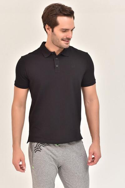 - Bilcee Siyah Erkek Büyük Beden Polo Yaka T-Shirt GS-8983