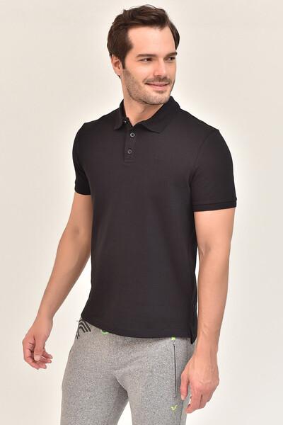 - Bilcee Siyah Erkek Büyük Beden Polo Yaka T-Shirt GS-8983 (1)