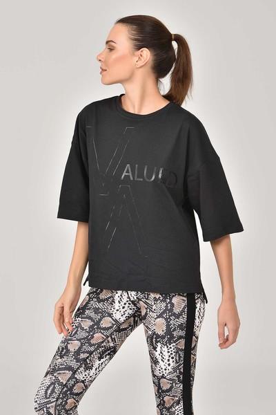 BİLCEE - Bilcee Siyah Kadın T-Shirt FW-1332