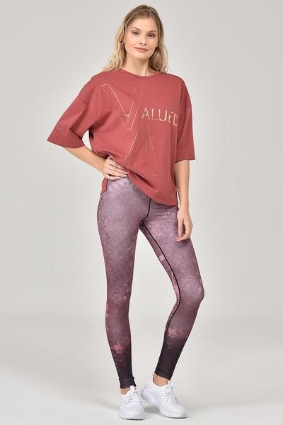 BİLCEE - Bilcee Kahverengi Kadın T-Shirt FW-1332