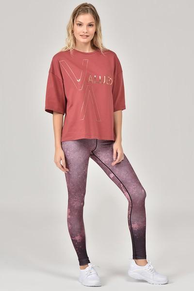 BİLCEE - Bilcee Kahverengi Kadın T-Shirt FW-1332 (1)