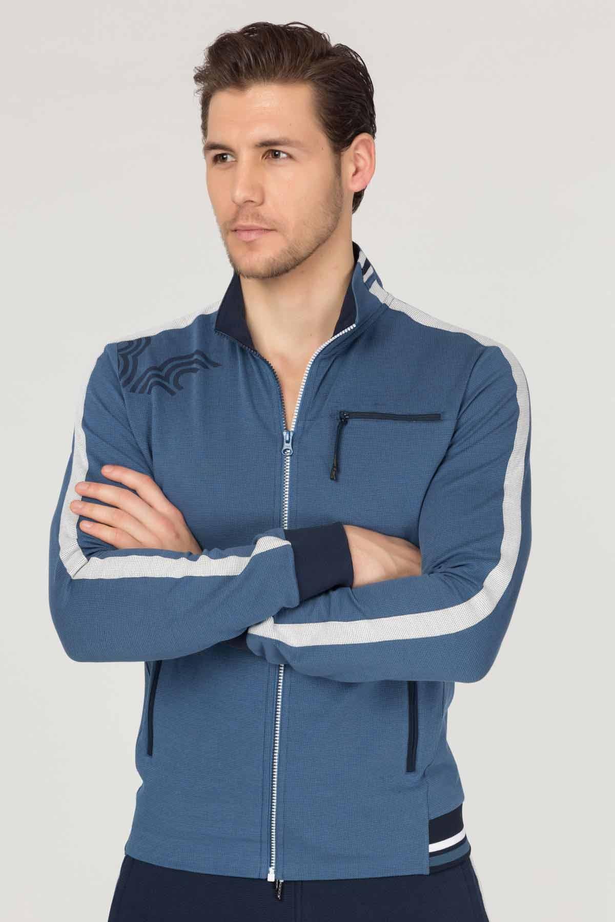 Bilcee Yazlık Mavi Erkek Eşofman Takımı FS-1716 BİLCEE