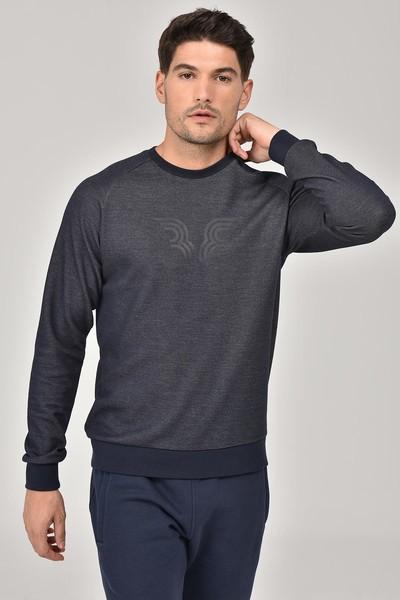 BİLCEE - Bilcee Lacivert Erkek Sweatshirt FW-1481