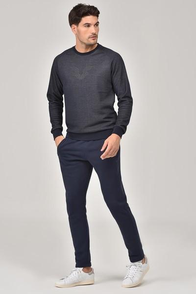 BİLCEE - Bilcee Lacivert Erkek Sweatshirt FW-1481 (1)