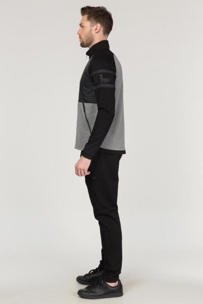 BİLCEE - Bilcee Siyah Pamuk/Poly Erkek Eşofman Takımı FS-3574 (1)