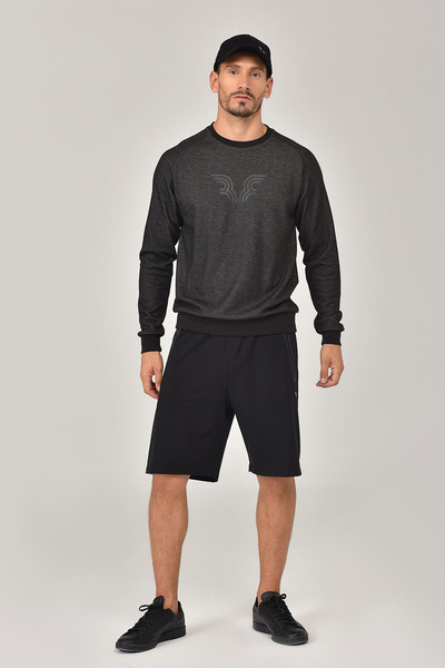 BİLCEE - Bilcee Siyah Erkek Sweatshirt FW-1481 (1)