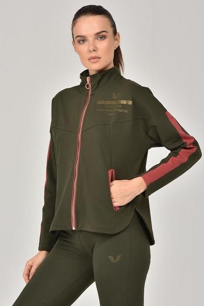 BİLCEE - Bilcee Yeşil Kadın Eşofman Takımı FW-1413 (1)