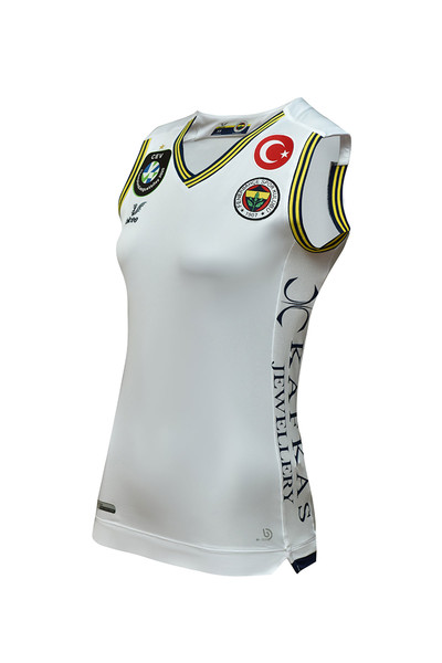BİLCEE - Fenerbahçe Beyaz Kadın Voleybol Forma FB-0019 (1)