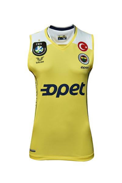 BİLCEE - Fenerbahçe Sarı Kadın Voleybol Forma FB-0018